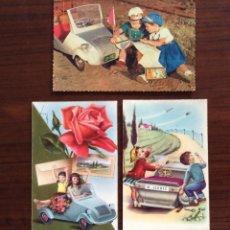 Postales: GRUPO DE 3 POSTAL DISTINTAS. NIÑOS Y BISCUTER.. Lote 181616501
