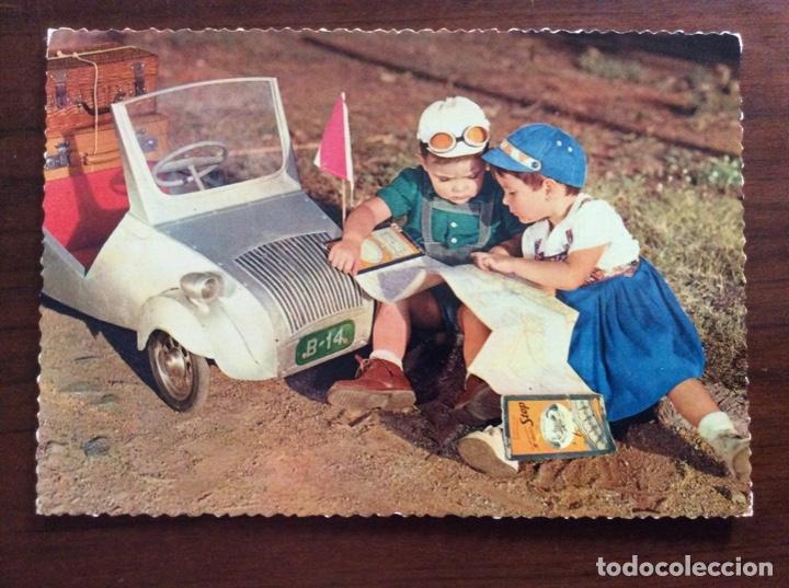 Postales: GRUPO DE 3 POSTAL DISTINTAS. NIÑOS Y BISCUTER. - Foto 3 - 181616501