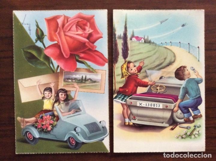 Postales: GRUPO DE 3 POSTAL DISTINTAS. NIÑOS Y BISCUTER. - Foto 4 - 181616501