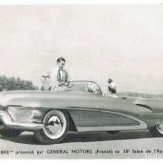 Postales: TARJETA PUBLICIDAD GENERAL MOTORS (FRANCE) 38 SALON DE L´ AUTOMOBILE. Lote 182486035