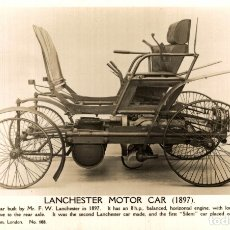 Postales: LANCHESTER MOTOR CAR MUSEUM OF SCIENCE LONDON. Lote 182982423
