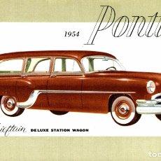Cartoline: 1954 PONTIAC CHIEFTAIN DELUXE STATION WAGON. Lote 182987168