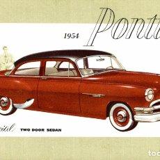 Cartoline: 1954 PONTIAC SPECIAL TWO DOOR SEDAN. Lote 182987195