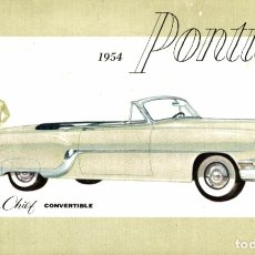 Cartoline: 1954 PONTIAC STAR CHIEF CONVERTIBLE. Lote 182987631