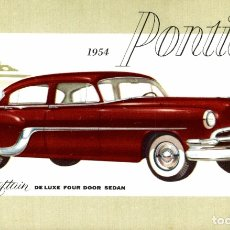 Cartoline: 1954 PONTIAC CHIEFTAIN DELUXE FOUR DOOR SEDAN. Lote 182987713