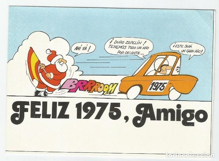 TARJETA POSTAL DE LA REVISTA MOTOR JOVEN DEL AÑO 1975- TESI Y ZEPELIN- SIN CIRCULAR (Postales - Postales Temáticas - Coches y Automóviles)