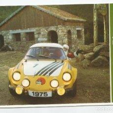Postales: TARJETA POSTAL DE LA REVISTA MOTOR JOVEN DEL AÑO 1975 ALPINE RENAULT- SIN CIRCULAR. Lote 189647692