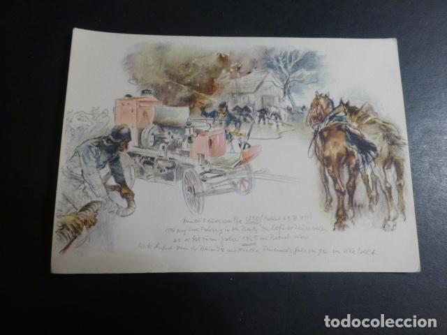 MERCEDES BENZ COCHE DE BOMBEROS POSTAL (Postales - Postales Temáticas - Coches y Automóviles)
