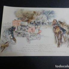 Postales: MERCEDES BENZ COCHE DE BOMBEROS POSTAL. Lote 190724195