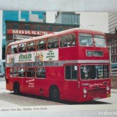 Postales: POSTAL NUEVA AUTOBUS CANADA - BOOK ROOM KS-9243 - AUTOBUS DOS PISOS - HALIFAX, NOVA SCOTIA. Lote 193958035