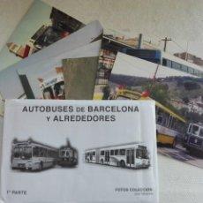 Postales: POSTAL NUEVA - EUROFER - SOBRE 1ª PARTE -SET 6 - AUTOBUSES DE BARCELONA Y ALREDEDORES - BADALONA. Lote 193968455