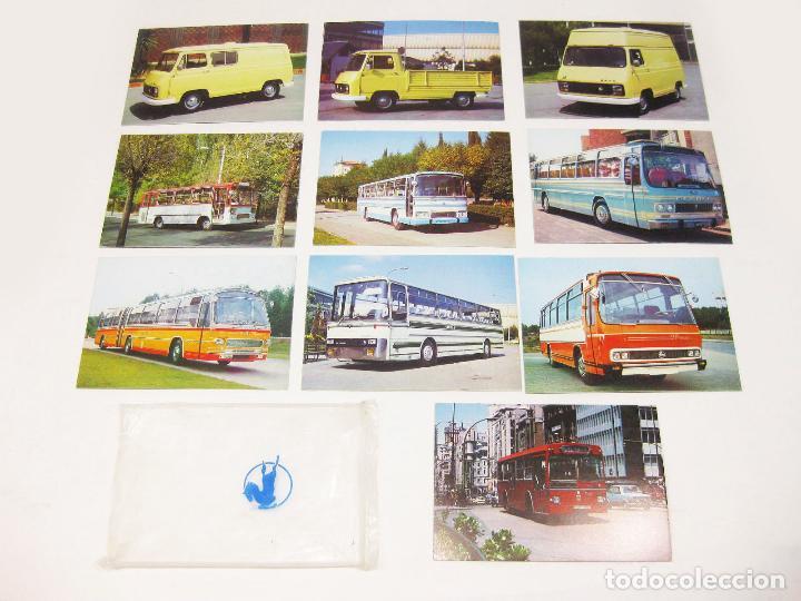 SOBRE ORIGINAL PEGASO CON 10 POSTALES DE AUTOCARES Y SAVA J-4 (Postales - Postales Temáticas - Coches y Automóviles)