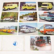 Postales: SOBRE ORIGINAL PEGASO CON 10 POSTALES DE AUTOCARES Y SAVA J-4. Lote 194649808