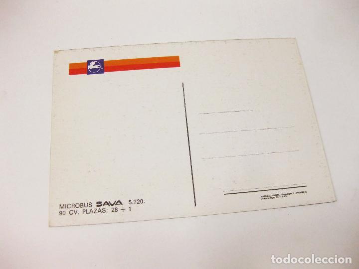 Postales: POSTAL DEL AUTOBÚS PEGASO MICROBUS SAVA 5.720 - Foto 2 - 194650405