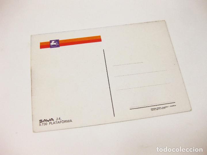 Postales: POSTAL DE LA FURGONETA PEGASO SAVA 5.730 PLATAFORMA - Foto 2 - 194650456