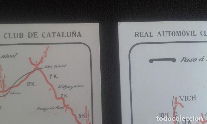 Postales: LOTE DE 5 POSTALES PUBLICITARIAS.REAL AUTOMOVIL CLUB DE CATALUÑA.5 ITINERARIOS. LA HISPANO-SUIZA. - Foto 3 - 195384833
