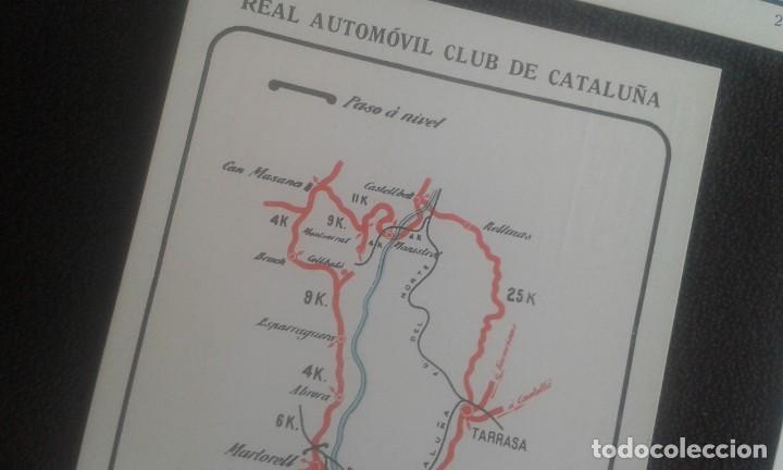 Postales: LOTE DE 5 POSTALES PUBLICITARIAS.REAL AUTOMOVIL CLUB DE CATALUÑA.5 ITINERARIOS. LA HISPANO-SUIZA. - Foto 9 - 195384833
