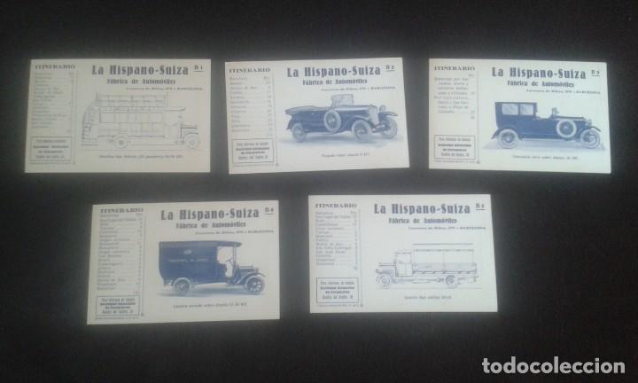 Postales: LOTE DE 5 POSTALES PUBLICITARIAS.REAL AUTOMOVIL CLUB DE CATALUÑA.5 ITINERARIOS. LA HISPANO-SUIZA. - Foto 12 - 195384833