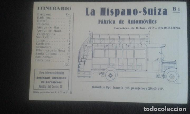 Postales: LOTE DE 5 POSTALES PUBLICITARIAS.REAL AUTOMOVIL CLUB DE CATALUÑA.5 ITINERARIOS. LA HISPANO-SUIZA. - Foto 13 - 195384833