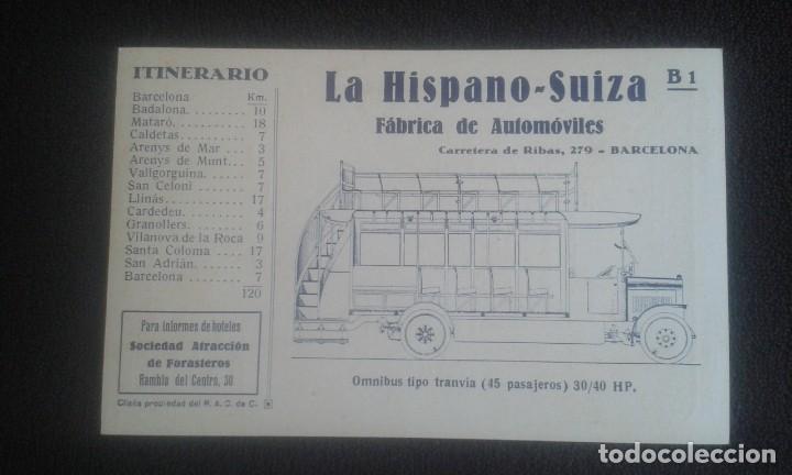 Postales: LOTE DE 5 POSTALES PUBLICITARIAS.REAL AUTOMOVIL CLUB DE CATALUÑA.5 ITINERARIOS. LA HISPANO-SUIZA. - Foto 14 - 195384833