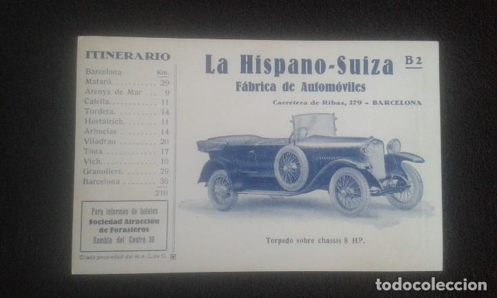 Postales: LOTE DE 5 POSTALES PUBLICITARIAS.REAL AUTOMOVIL CLUB DE CATALUÑA.5 ITINERARIOS. LA HISPANO-SUIZA. - Foto 15 - 195384833