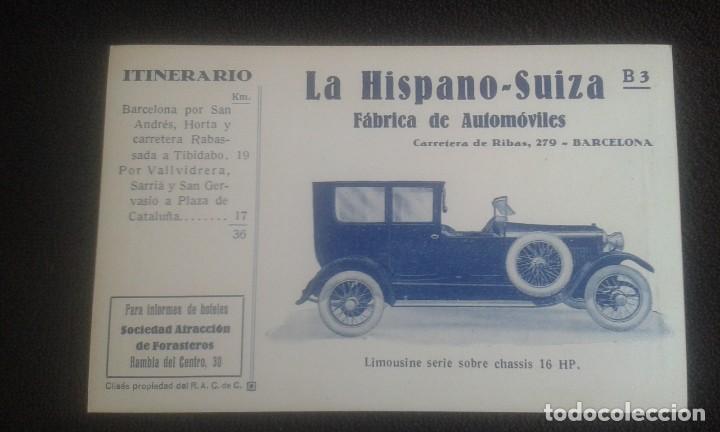 Postales: LOTE DE 5 POSTALES PUBLICITARIAS.REAL AUTOMOVIL CLUB DE CATALUÑA.5 ITINERARIOS. LA HISPANO-SUIZA. - Foto 17 - 195384833