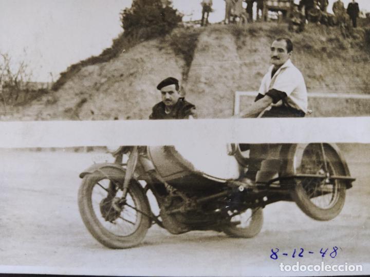 Postales: MOTO CON SIDECAR-FOTOGRAFO R.TORRES, BARCELONA-POSTAL FOTOGRAFICA ANTIGUA-(68.628) - Foto 2 - 196530683