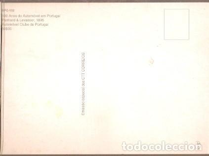 Postales: Portugal & Maxi,100 Años del Automóvil en Portugal, Panhard y Levassor 1895, Lisboa 1995 (152) - Foto 2 - 198624713