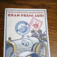 Postales: GRAN PREMIO AUDI /COTXES D'EPOCA SITGES 2002. Lote 198786187