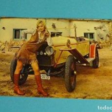 Postales: POSTAL. POSTALES C. Y Z.. MODELO Y COCHE CLÁSICO. Lote 199283111