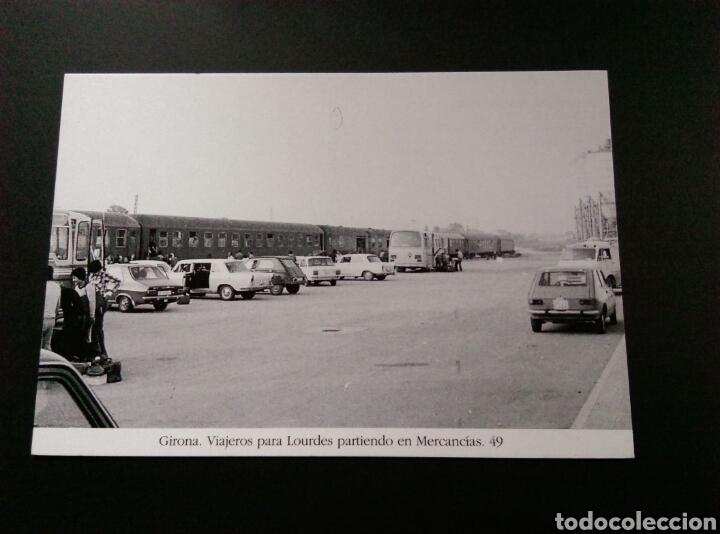GIRONA VIAJEROS PARA LOURDES PARTIENDO EN MERCANCIAS 49 RENAULT SEAT CITROEN (Postales - Postales Temáticas - Coches y Automóviles)