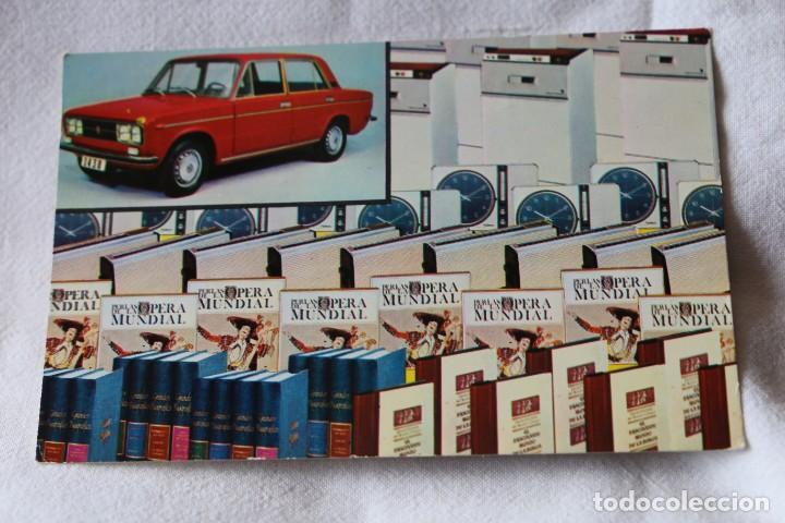 SORTEO RUEDA DE LA FORTUNA. SELECCIONES DEL READERS DIGEST. SEAT 1430 CIRCULADA 1973 (Postales - Postales Temáticas - Coches y Automóviles)