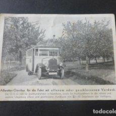 Postales: AUTOBUS OMNIBUS ALEMAN POSTAL. Lote 203992783