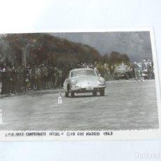 Postales: FOTOGRAFIA DE EL RALLY, II FASE CAMPEONATO SOCIAL, CLUB 600 MADRID 1963, FOTO A. IBAÑEZ, MADRID, MID. Lote 204145828