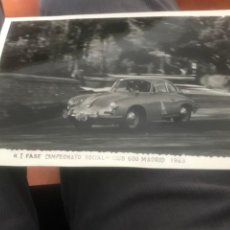 Postales: FOTOGRAFIA DEL RALLY, I FASE CAMPEONATO SOCIAL, CLUB 600 MADRID, 1963, FOTO A. IBAÑEZ, MADRID, MIDE. Lote 204146930