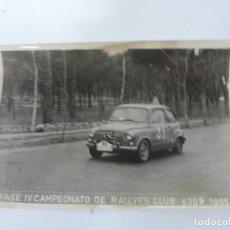 Postales: FOTOGRAFIA DEL RALLY, SUBIDA HORCHE ESCUDERIA R.A.C.E. 1965, FOTO A. IBAÑEZ, MADRID, MIDE 18,2 X 12. Lote 204148012