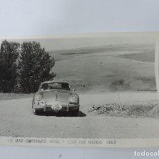 Postales: FOTOGRAFIA DEL RALLY, III FSE CAMPEONATO SOCIAL, CLUB 600 MADRID 1963, FOTO A. IBAÑEZ, MADRID, MIDE. Lote 204148452