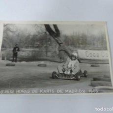 Postales: FOTOGRAFIA DEL RALLY, SEIS HORAS DE KARTS DE MADRID 1965, FOTO A. IBAÑEZ, MADRID, MIDE 18,2 X 12 CMS. Lote 204150028