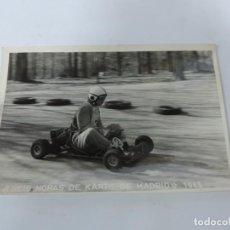 Postales: FOTOGRAFIA DEL RALLY, SEIS HORAS DE KARTS DE MADRID 1965, FOTO A. IBAÑEZ, MADRID, MIDE 18,2 X 12 CMS. Lote 204150076