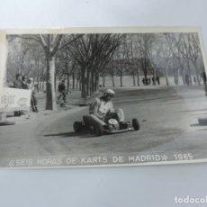 Postales: FOTOGRAFIA DEL RALLY, SEIS HORAS DE KARTS DE MADRID 1965, FOTO A. IBAÑEZ, MADRID, MIDE 18,2 X 12 CMS. Lote 204151372