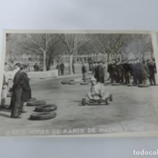 Postales: FOTOGRAFIA DEL RALLY, SEIS HORAS DE KARTS DE MADRID 1965, FOTO A. IBAÑEZ, MADRID, MIDE 18,2 X 12 CMS. Lote 204151430