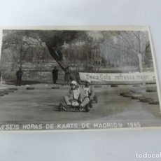 Postales: FOTOGRAFIA DEL RALLY, SEIS HORAS DE KARTS DE MADRID 1965, FOTO A. IBAÑEZ, MADRID, MIDE 18,2 X 12 CMS. Lote 204176013