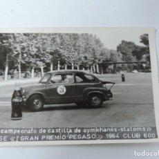 Postales: FOTOGRAFIA DEL RALLY, II CAMPEONATO DE CASTILLA DE GYMKHANAS-SLALOMS, II FASE, I GRAN PREMIO PEGADO,. Lote 204176775