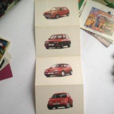 Postales: LOTE 5 POSTALES VOLKSWAGEN VW GOLF EN ACORDEON MODELOS 1974 A 2004, POSTALFREE. Lote 204225973
