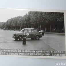 Postales: FOTOGRAFIA DEL CLUB 600, II CAMPEONATO DE CASTILLA DE GYMKHANAS- SLALOMS, II FASE DEL GRAN PREMIO P. Lote 204606856