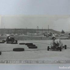 Postales: FOTOGRAFIA DE KART DE CARRERAS, KART RACING, II TROFEO NCIONAL MC. CULLOCH 1963, FOTOGRAFIA A. IBAÑE. Lote 204607761