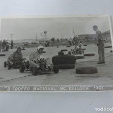 Postales: FOTOGRAFIA DE KART DE CARRERAS, KART RACING, II TROFEO NCIONAL MC. CULLOCH 1963, FOTOGRAFIA A. IBAÑE. Lote 204607868
