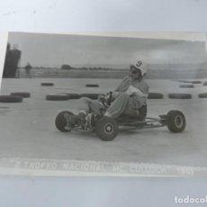 Postales: FOTOGRAFIA DE KART DE CARRERAS, KART RACING,1965, FOTOGRAFIA A. IBAÑEZ, 1965, MIDE 18 X 12,3 CMS.. Lote 204608985