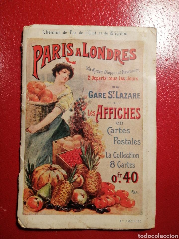 CHEMINS DE FER DE L´ETAT ET DE BRIGHTON CARTES POSTALES 8 - LIBRITO DE POSTALES PARIS. (Postales - Postales Temáticas - Coches y Automóviles)