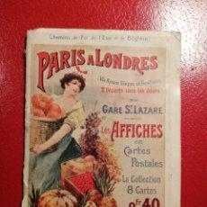 Postales: CHEMINS DE FER DE L´ETAT ET DE BRIGHTON CARTES POSTALES 8 - LIBRITO DE POSTALES PARIS.. Lote 205592325